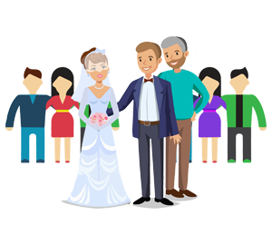 Marriage-Registration - Couple with witnesses